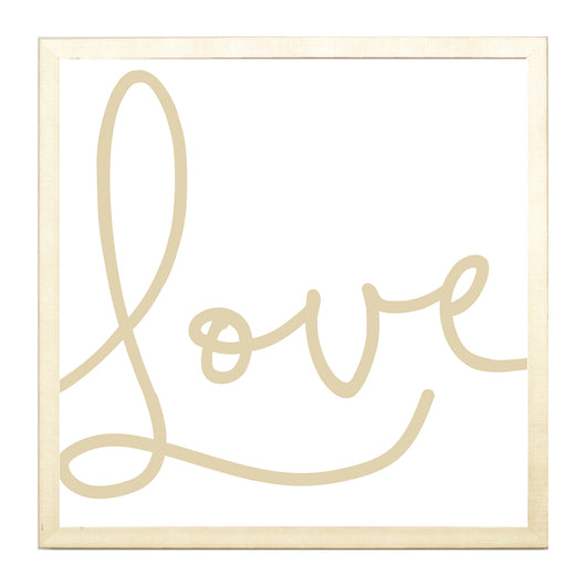 Petal Lane Home Gold Love Script Magnet Board