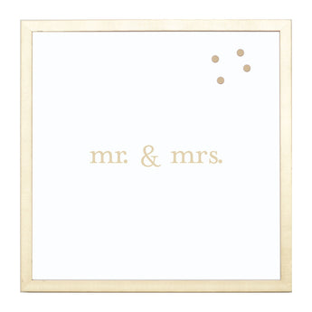 Petal Lane Home Gold Mr. and Mrs. Magnet Board