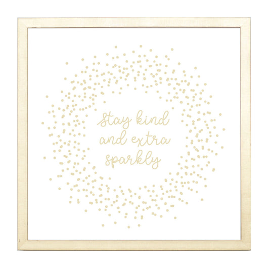 Petal Lane Home Gold Stay Kind and Sparkly Magnet Board