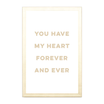 Petal Lane Home Gold You Have my Heart Magnet Board