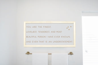 Gold Finest Loveliest Magnet Board