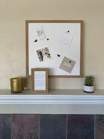 Rustic Brown Blank Magnet Board