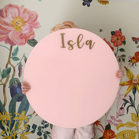 Glass Magnetic Positively Pink Circle Dry Erase Board