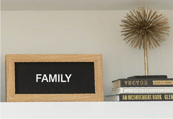 Petal Lane Home Mini Ebony  letterlove Board (Long Rectangle) Magnet Letter Board