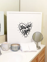 Petal Lane Home Bathroom Alexa You are Loved Magnet Board Wall Decor