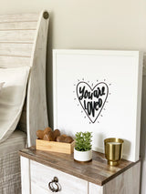 Petal Lane Home Alexa Nightstand You are Loved Magnet Board with Raised Letters