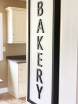 Petal Lane Home Ebony Raised Letters Bakery Close up Dimensional Sign