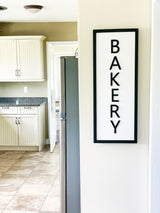 Petal Lane Home Ebony Bakery Sign with Raised Letters in Kitchen