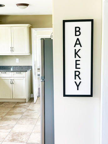 Petal Lane Home Ebony Magnet Board Bakery with Raised Letter Options