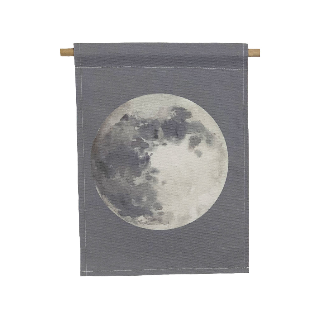 bannerlove Watercolor Moon Hanging Banner