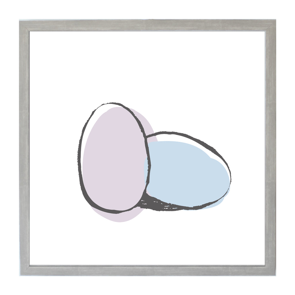 Spring Purple and Blue Easter Eggs Magnet Board