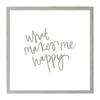Petal Lane Home Gray What Makes me Happy Magnet Board