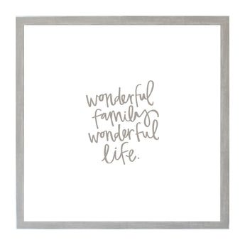 Petal Lane Home Warm Gray Wonderful Family Wonderful Life Magnet Board