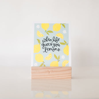Petal Lane Home paperlove Alexa When Life Gives you Lemons on Stand