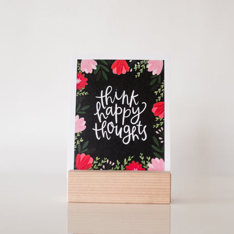 paperlove Alexa Think Happy Thoughts Paper Print