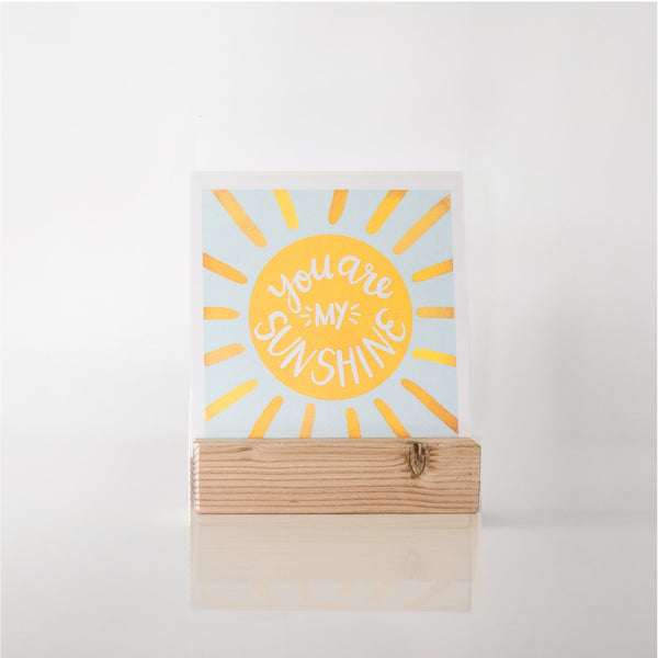 paperlove Spring Alexa You are my Sunshine Paper Print