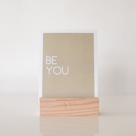paperlove Neutral Be You Paper Print