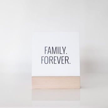 Petal Lane paperlove paper print Ebony Family Forever with wood stand.