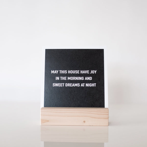 paperlove Chalkboard Look May This House Paper Print