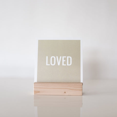 paperlove Neutral Loved Paper Print