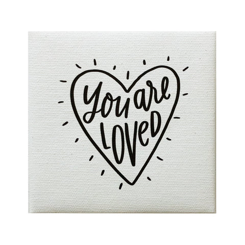 Canvas Magnet Alexa You are Loved Heart