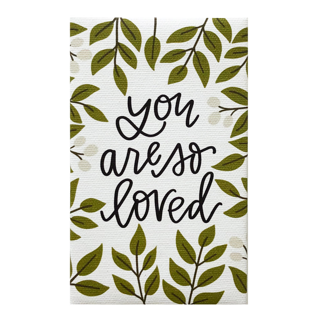 Canvas Magnet Alexa You are so Loved with Leaves