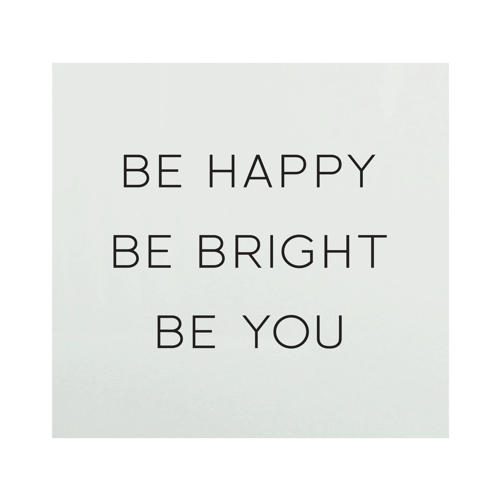 Glass Magnet Be Happy Be Bright
