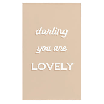 Canvas Magnet Darling You Are Lovely