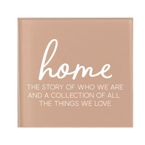 Glass Magnet Home The Story