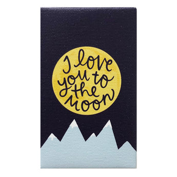 Canvas Magnet Kids I Love You to the Moon