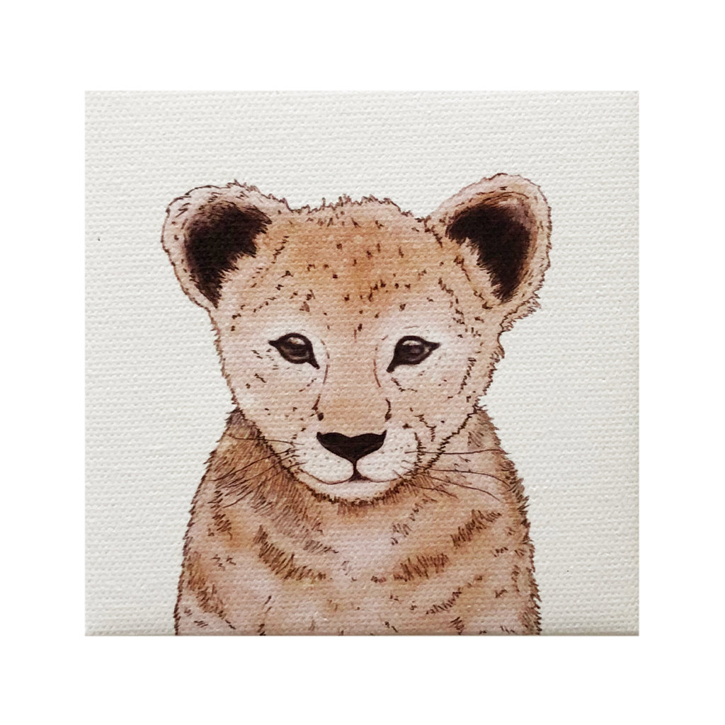 Canvas Magnet Kids Lion Face