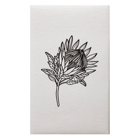 Canvas Magnet Neutral Black and White Australia Flower