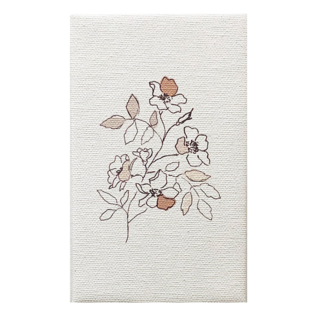 Canvas Magnet Neutral Colorful Flowers