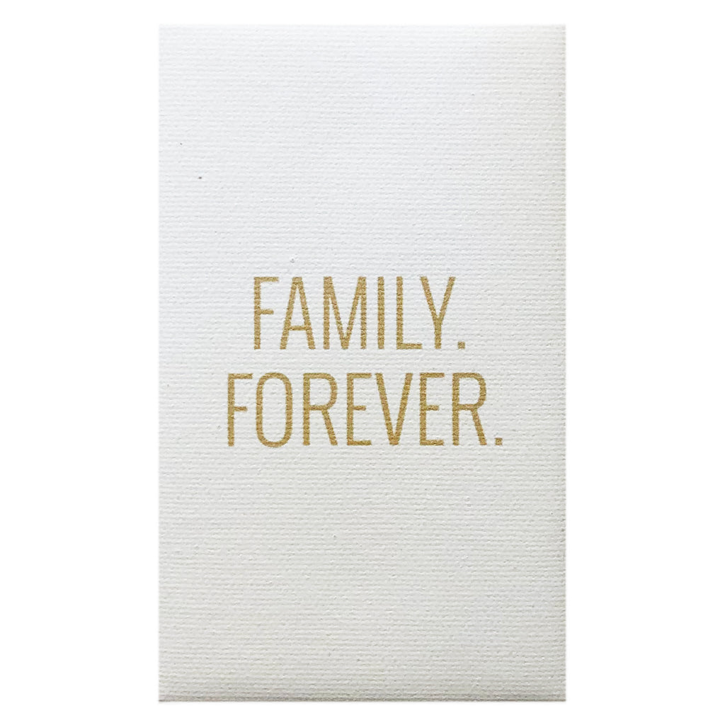 Canvas Magnet Quotes Family Forever