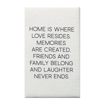 Canvas Magnet Quotes Home is Where