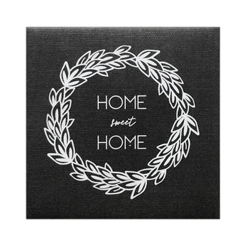 Canvas Magnet Rustic Chalkboard Look Home Sweet Home