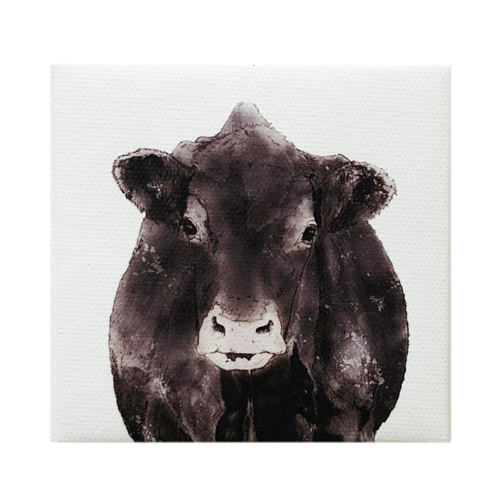 Canvas Magnet Rustic Cow