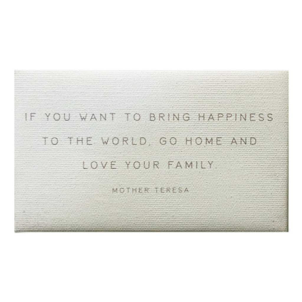 Canvas Magnet Rustic If You Want to Bring Happiness