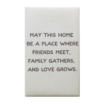 Canvas Magnet Rustic May This Home Love Grows