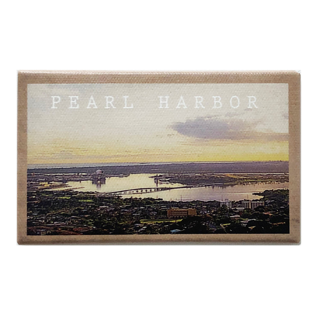Canvas Magnet Souvenir Pearl Harbor
