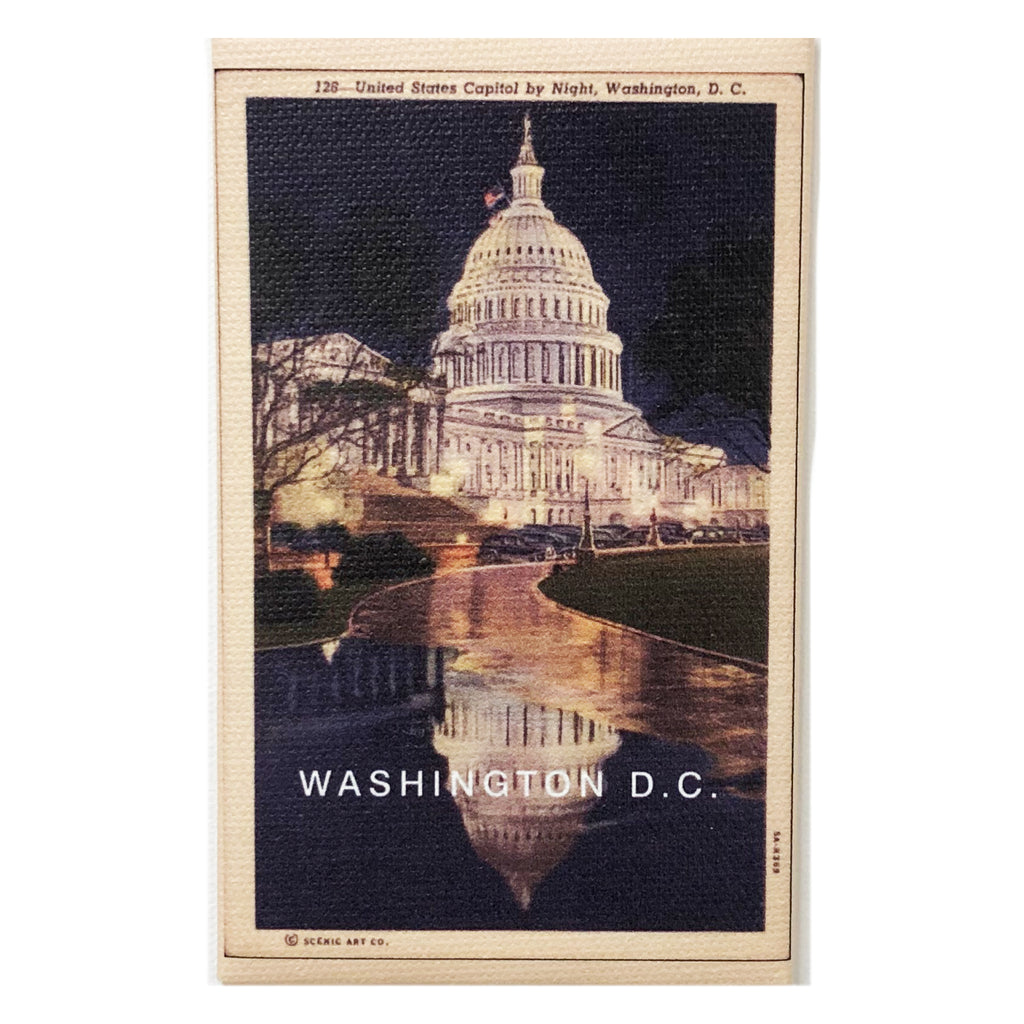 Canvas Magnet Souvenir Washington D.C.