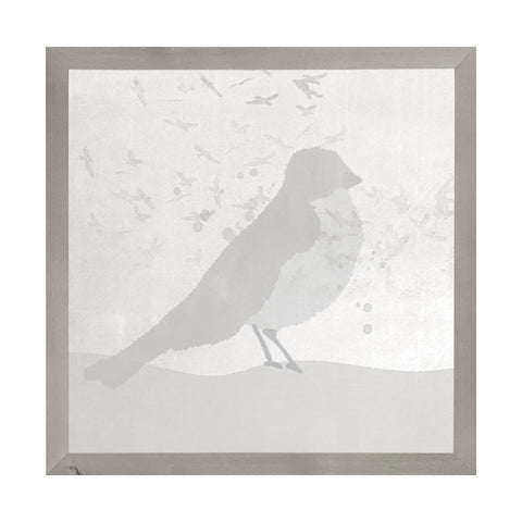 Farmhouse Gray Watercolor Bird