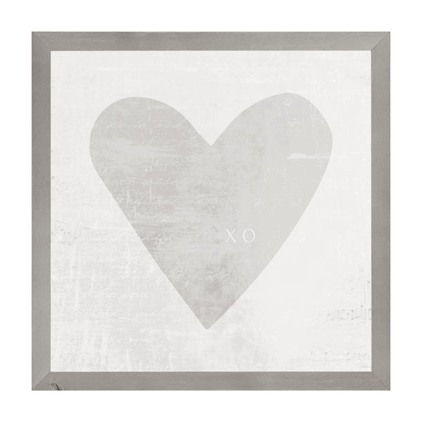 Farmhouse Gray Watercolor Heart