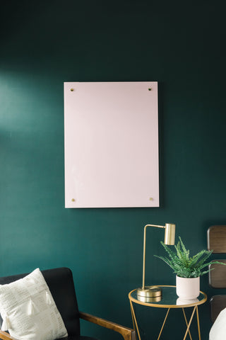 Glass Magnetic Positively Pink Dry Erase Board