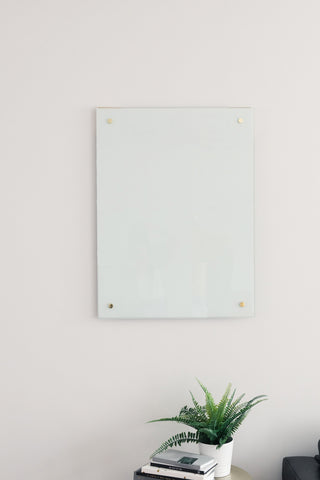 Glass Magnetic Blank White Dry Erase Board