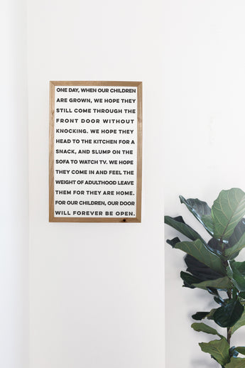 PETAL LANE HOME FRAMED QUOTE  ONE DAY