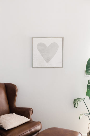 PETAL LANE HOME FRAMED WATERCOLOR HEART