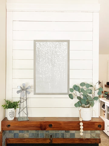 Farmhouse Gray White Fern