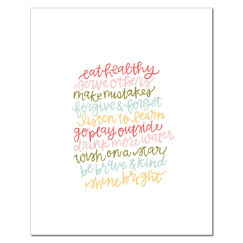 Petal Lane paperlove paper print Alexa Eat Healthy Words to Live By