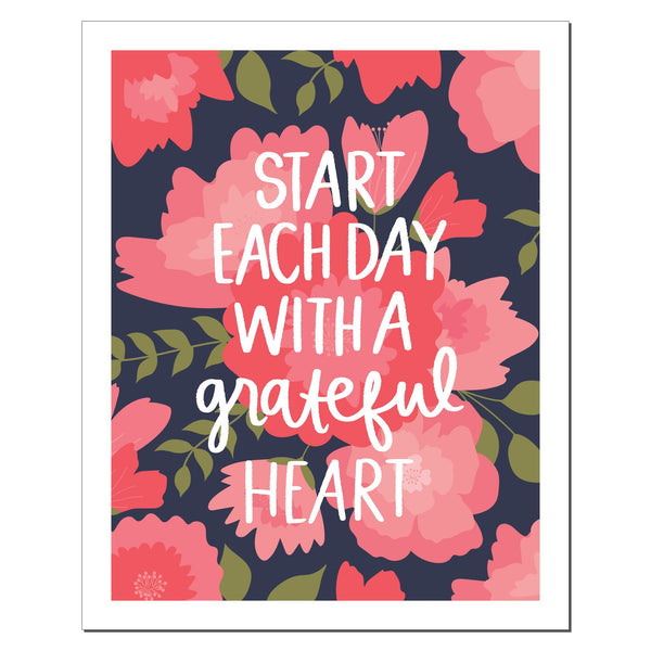 paperlove Alexa Start Each Day Paper Print